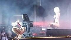 Dildo fucking on the big stage