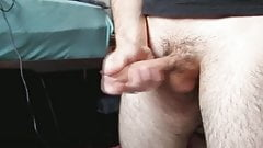 Jerking my uncut cock and cumming 2. HD.