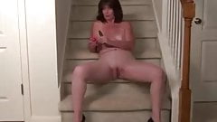 mature lady solo masturbation