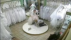 spy camera in the salon of wedding dresses 7 (sorry no sound