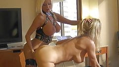 Strap On and Tit Play Lesbians