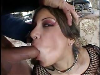 Sexy MILF gets her pussy and ass fucked and gets double cumshot