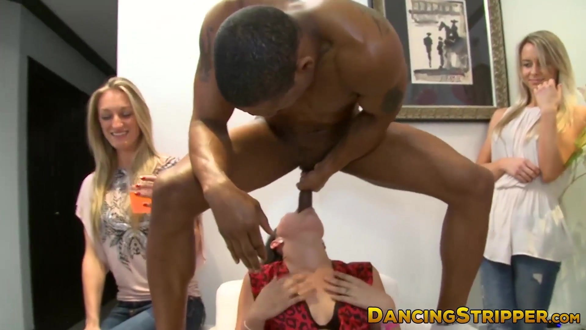 Big booty college chicks turned on by hung stripper
