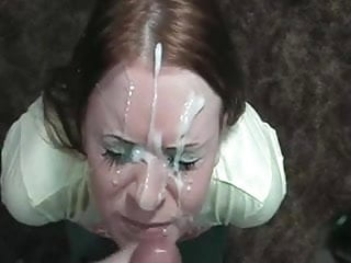 Huge facial for her face