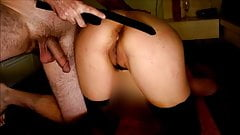 Slave Teen gets 50 strikes in her Ass-Punished hard