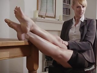 Pointing legs and feet - secretary (with) style... -