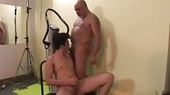 Lucky Young Man has intense work out with a sexy older man