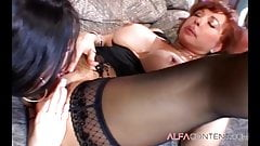 Lesbian MILF's having a blast with toys