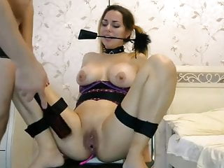 bound with ass and pussy full of ohmibod