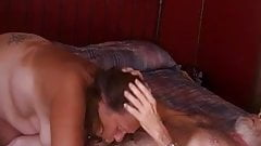Lucky Lucy Linda sucks cock again