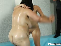 Thick babe wrestling plumper bbw before bj