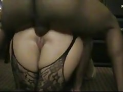 BBW white bitch hard anal fuck