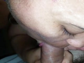 South African sub plays with her cunt and sucks cock
