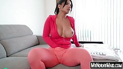 Buxom Latina housekeeper fucks doggy style with her boss