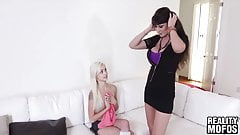 MILF Eva Karera teaches adorable hottie Elsa Jean a lesson
