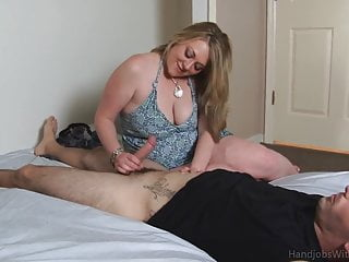 Awesome BBW MILF Handjob