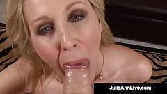 American Woman Julia Ann Face Fucks Hard Cock Point Of View!