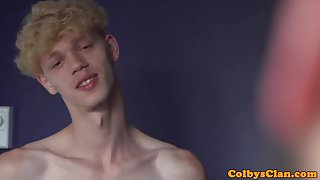Athletic twink assfucked deeply by older guy