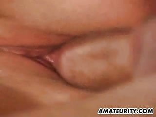 Busty amateur girlfriend home action with cum on tits
