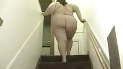 Ssbbw teasing on the stairs  solo play