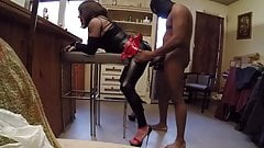 shemale fucked hard by a black cock