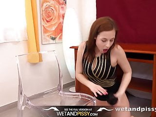 Piss In Mouth - Big boobed redhead can't get enough of her