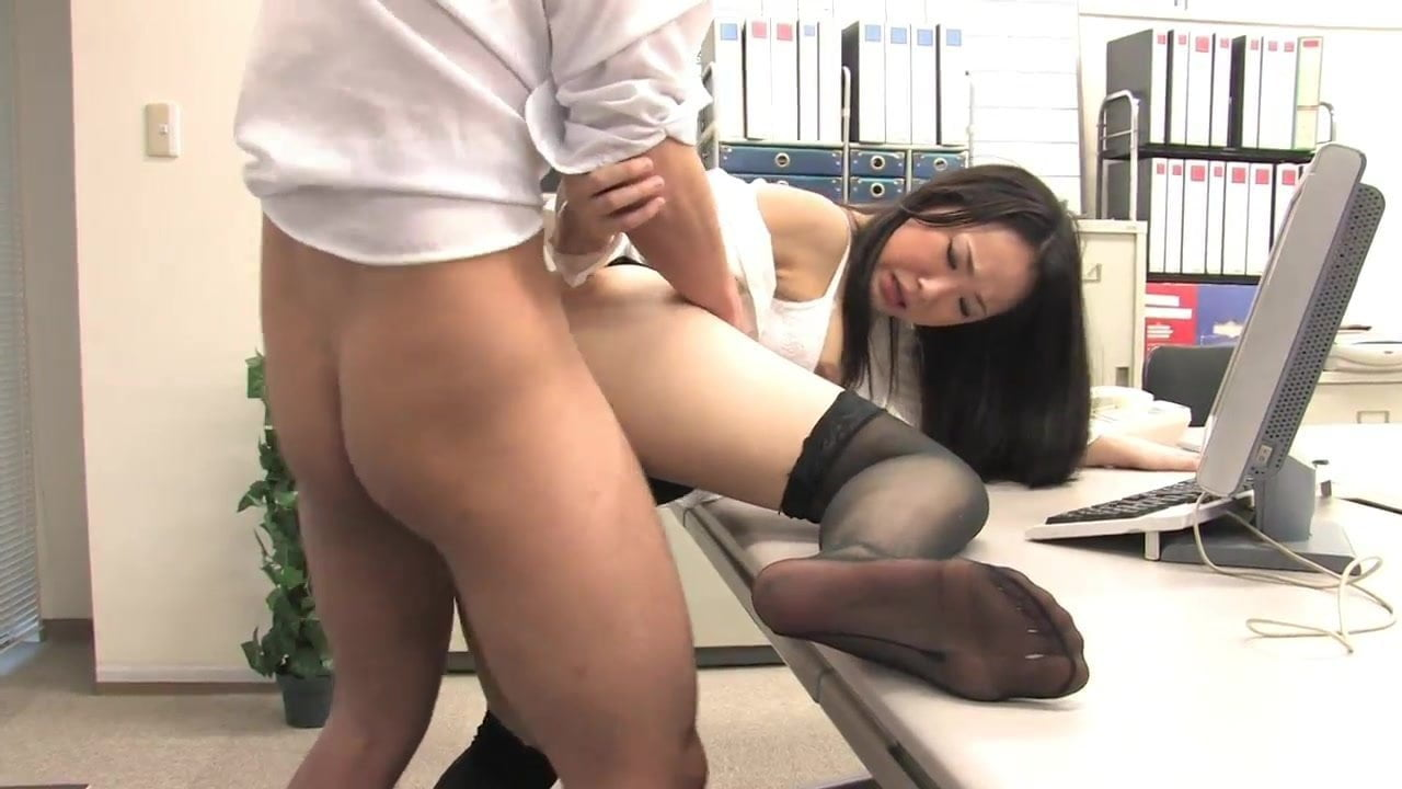 Sexy secretary sucks and fucks collegue's cock at work