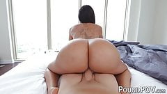 Huge bubble butt girl Lela Star destroyed in POV