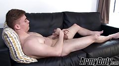 Handsome jacked stud Brock Banner jacks off his hot cock