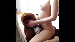 Teen Slut Riding Teddy