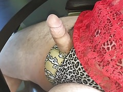Playing in wifeys Victoria Secret panties and lace nighty