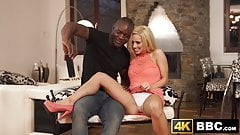 Selfie taking vixen overjoyed with interracial hammering