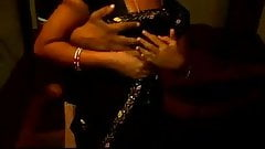 22 telugu aunty boobs pressing with black saree