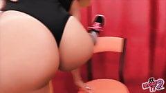 Big Ass Blonde Teen and Her Round Ass Brunette Teen Working