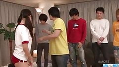 Asian, Ryo Asaka, sure loves fucking in group
