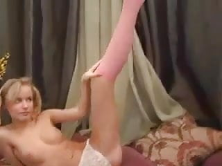 Skinny Blonde Strips And Teases