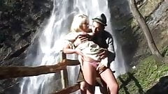 hot busty german Heidi loves to fuck in the mountains