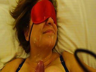My big cum facial over wife