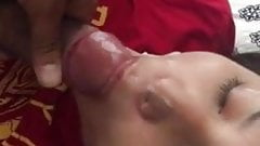 lucky latina gets bbc load right in the face