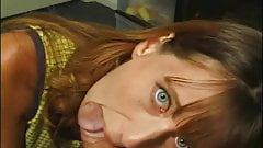 Russian redhead sucks small uncut dick. Cums in mouth