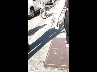 Phat Ass Latina Bitch in See Through Yoga Pants