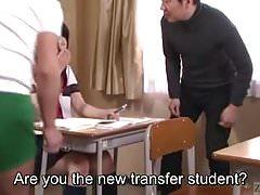 Subtitled Japanese schoolgirl Tsugumi Mutou gokkun blowjob