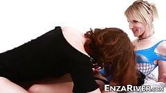 Tranny River Enza ass pounded for voyeur pleasure