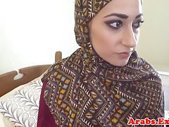 Arab amateur plowed before blowjob