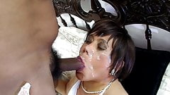 anal and facial gangbang with her three husbands