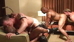 Nasty men - black & white gangbang