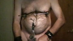 pre crux cbt ball stretch and mouse trap nipple torture