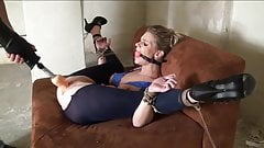 Gag-Man 017 Ballgagged+Bound Ass+Pussy-Dildoed
