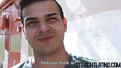 Straight Latino guy cums hard while being barebacked in POV