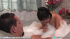 SoapyMassage Busty Asian London Keyes' Bathtub Pleasures